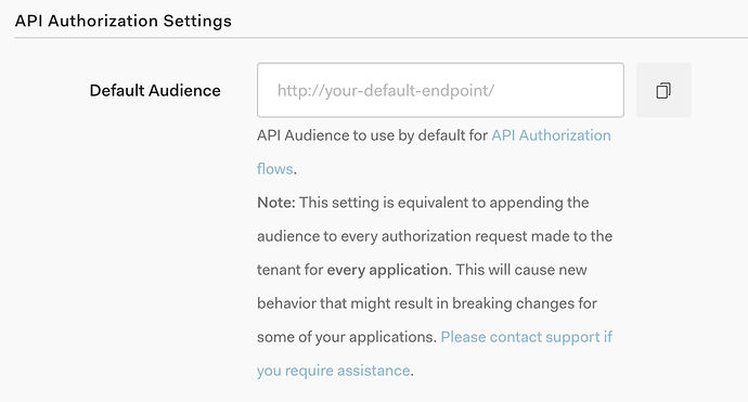 Why is it necessary to pass the 'audience' parameter to